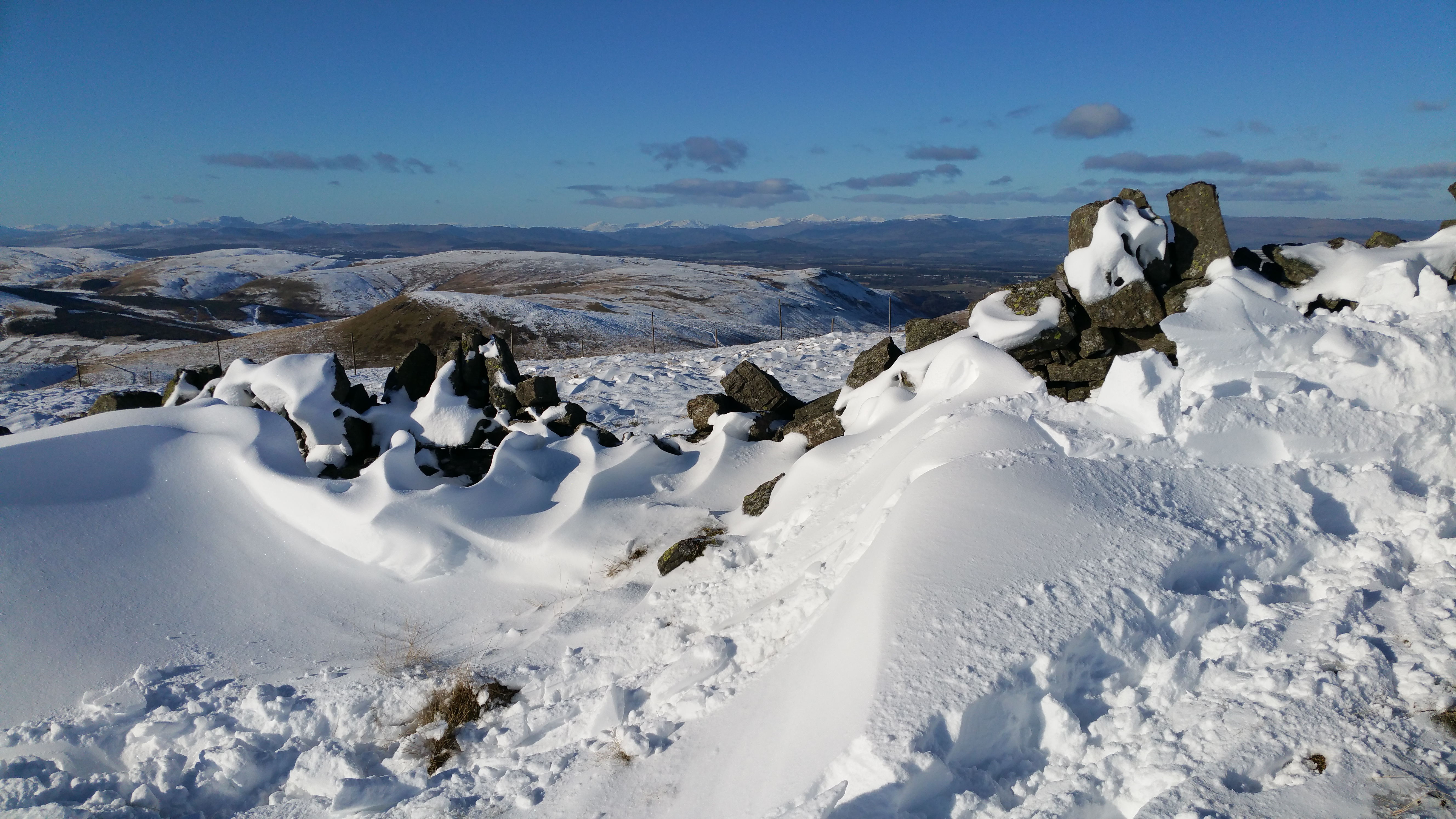 Winter view looking north west from Saline Hill