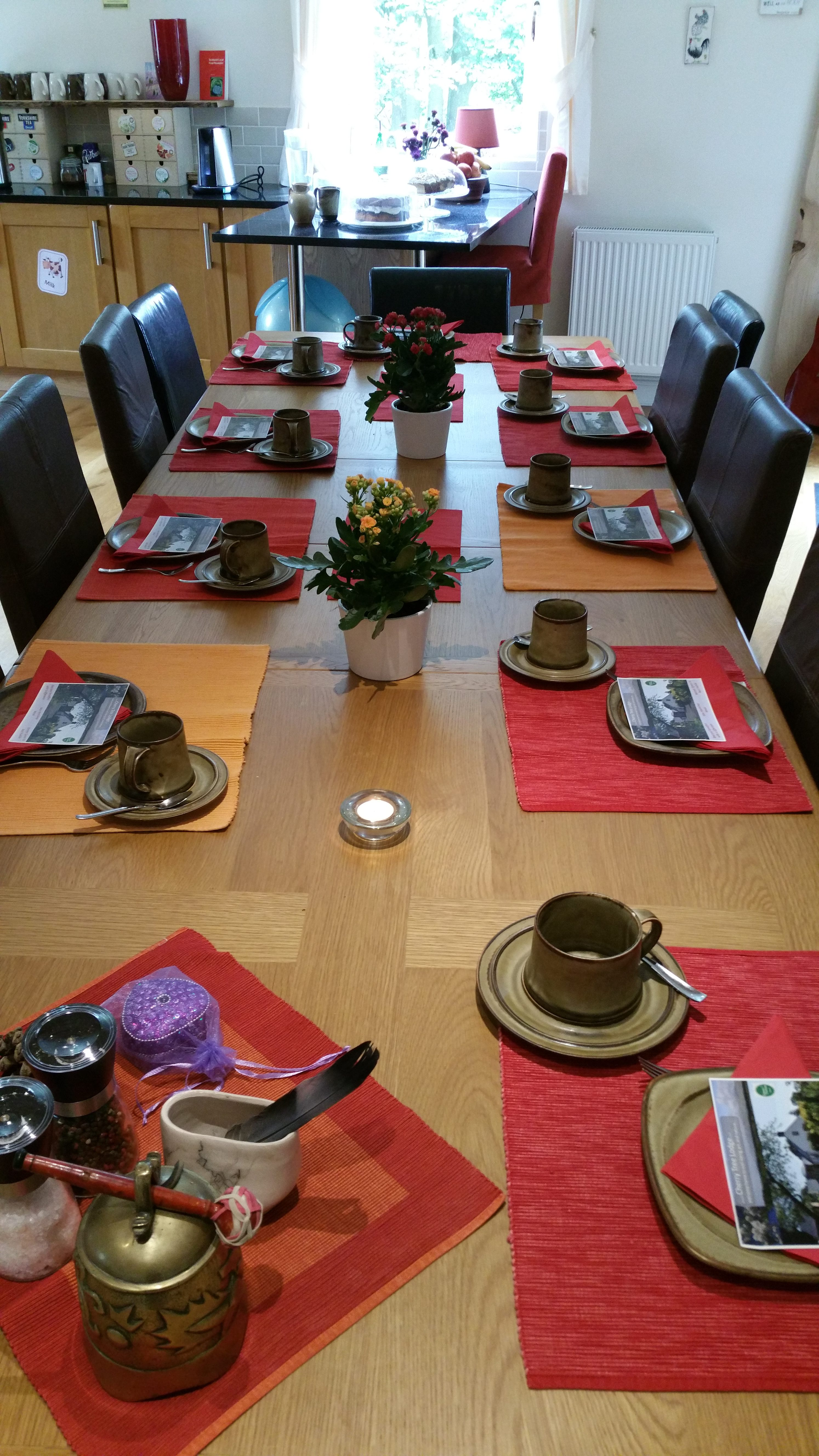 h table awaits group dining